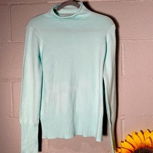 French Connection Small Green Turtleneck Sweater